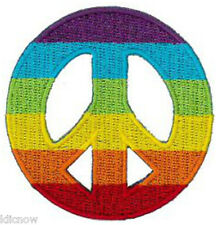 "PEACE RAINBOW CND EMBROIDERED PATCH 6CM Dia (2 1/2"" Dia)"