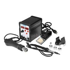 898D 2 in 1 SMD Rework Soldering Station Hot Air Iron Welder BGA Nozzle A5D6