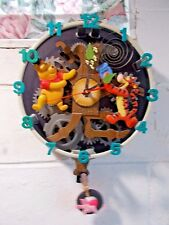 DISNEY WINNIE THE POOH ANIMATED TALKING WALL CLOCK c
