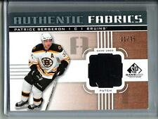Patrice Bergeron 11/12 SPGU Authentic Fabrics Game Used Jersey Patch #31/35