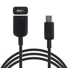 1M Black Extender Extension Data Sync Charger Cable Micro B USB Female to Male