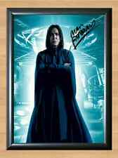Professor Snape Harry Potter Alan Rickman Signed Autographed A4 Poster Print dvd