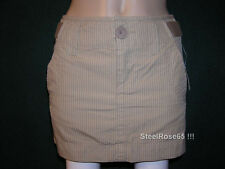 Aeropostale Junior Girl's Tan Striped Mini Skirt 0