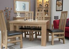 Serina solid oak furniture chunky dining table