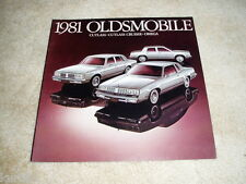 1981 Oldsmobile Cutlass Supreme Cruiser Omega sales brochure dealer literature