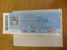 03/10/2009 BIGLIETTO: COVENTRY CITY V Leicester City (SKY Creations Lounge). unles