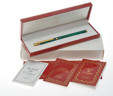Cartier Panthere lacca malachite green lacquer fountain pen new mint w/box