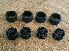Lego Parts Pieces Wheel Black #56145 & Tire 37 x 22   LOT of 4