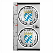 Bayern MUNCHEN set of 2 German Number Plate Seal Stadt 3D Domed Sticker badge