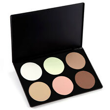 6 Colours Sleek Matte Face Powder Foundation Contour Highlighter Make-up Palette