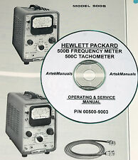HP 500B Frequency Meter & 500C Tachometer, Operating & Service Manual