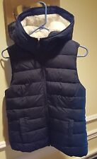 Hollister Sherpa Lined Puffer Vest Gilet, Excellent Condition