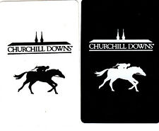 2 (pair) single playing swap cards - Horse Horses - Racing  - Churchill Downs