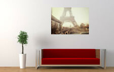 PARIS EIFFEL TOWER BLURRED NEW GIANT LARGE ART PRINT POSTER PICTURE WALL
