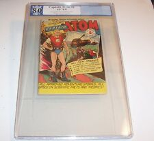 Captain Atom #1 - Graded VF 8.0 - 1950 Golden Age Issue (rare in this grade)