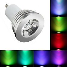 Control remoto de cambio de color RGB LED Luz Bombilla Regulable Bombillas de 4x GU10 3W