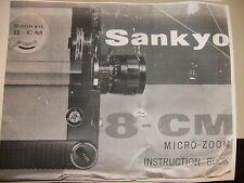 Instructions cine movie camera SANKYO 8-CM  - CD/Email