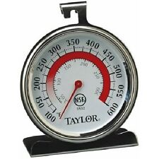 Taylor 5932 Oven Thermometer, Dial, 200 - 500 degree, Stainless, NSF *