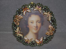 JAY STRONGWATER PICTURE FRAME SWAROVSKI CRYSTALS ENAMEL BUTTERFLIES MADE IN USA