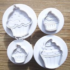 4pcs Ice Cream Fondant Cake Decorating Plunger Cutter Sugarcraft Mould Mold Tool