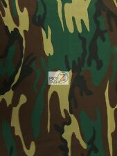 "100% COTTON CAMOUFLAGE DENIM FABRIC - Green/Brown/Black/Khaki -60"" WIDE SOLD BTY"