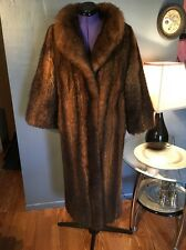 SOFT & WARM Dark brown Opossum furREAL FUR LONG  COAT