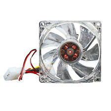 Quiet Desktop PC Case Fan Cooling 4 LEDs New 80mm