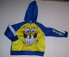 PRE-OWNED BABY INFANT NICKELODEON SPONGE BOB LIGHTWEIGHT JACKET SIZE 24 MONTHS