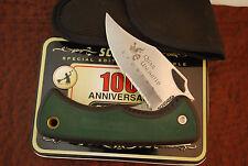 SCHRADE USA QUAIL UNLIMITED SPONSER JUMBO RUBBER LOCKBACK KNIFE 47OT (117)