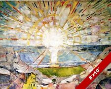 THE SUN HORIZON SET RISE EDVARD MUNCH PAINTING ART REAL CANVAS PRINT