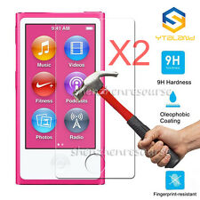 2Pcs 9H+ Premium Tempered Glass Screen Protector Film For Apple iPod Nano 7 7th
