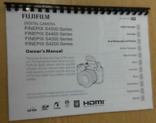 FUJIFILM S4500 S4400 S4200  PRINTED INSTRUCTION MANUAL USER GUIDE 147 PAGES A5