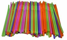 400x Colourful Long Curly  Straw  Bendy Loop Drinking Straws Party Bulk 26cm