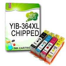 4 x 364 NON-OEM INK CARTRIDGE Replace For PHOTOSMART 5510 5515 6510 7510