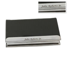 Free Personalized Leatherette Business Card Case Holder Engraved for Gift Men