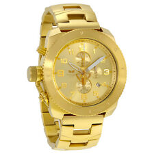 Vestal Restrictor Chronograph Champagne Dial Gold-tone Mens Watch RES009