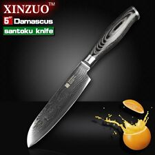 "XINZUO 5"" santoku knife Japanese Damascus kitchen knives Japanese VG10"