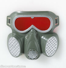 BIOHAZARD ZOMBIE GAS MASK HAZMAT TOXIC FACE MASK HALLOWEEN COSTUME ACCESSORY