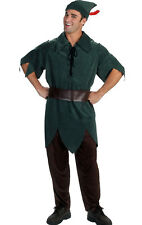 Adult Peter Pan Fancy Dress Costume Robin Hood Elf Fancy Dress Costume