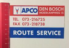 Aufkleber/Sticker: APCO Den Bosch - Route Service (01061657)