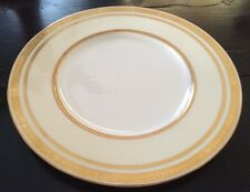 MINTON CHINA TIFFANY CO WHITE W/CREAM & GOLD ENCRUSTED DINNER PLATE H 2949