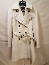 EXPRESS WHITE BELTED WOOL BLEND COAT, WOMEN'S 0, XS
