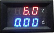 (DC 4.5V-30V) (200A) (RED/BLUE) Dual LED Digital Voltmeter Ammeter AMP w/SHUNT
