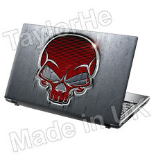 "Da 15,6 ""Laptop SKIN Cover Adesivo Decalcomania METALLO TESCHIO 119"