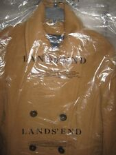 Lands' End  Women's Luxe Wool Blend Pea Coat, Size 10, in Warm Camel, New