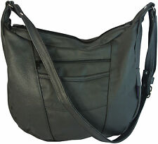 Pebbled LEATHER Concealed Carry LARGE Hobo Purse Right or Left Handed Draw
