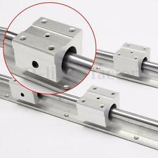 2pcs SBR16-750MM  16mm Linear Support Rail + 4 SBR16UU Slide Bearing Blocks CNC