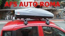 BOX AUTO PORTAPACCHI G3 ALL TIME 400+BARRE PORTATUTTO FIAT PANDA 2012 NO RAILS