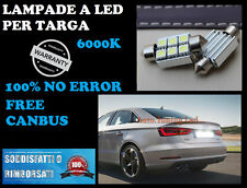 AUDI TT A2 A3 A4 A5 A6 A7 A8 Q5 Q7 LUCI TARGA 6 LED BIANCO CANBUS 36MM NO ERRORE