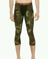 New Polo Ralph Lauren Men's All-Sport Camo Compression Tights Running Sz M